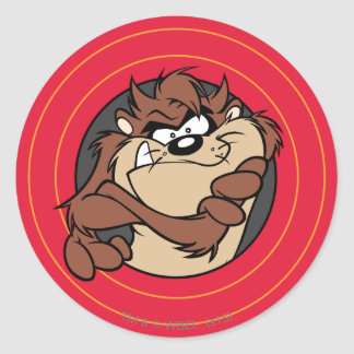 TAZ™ Through LOONEY TUNES™ Circles Classic Round Sticker
