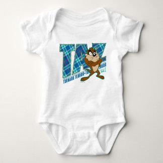 TAZ™ Tornado Terror Plaid Baby Bodysuit