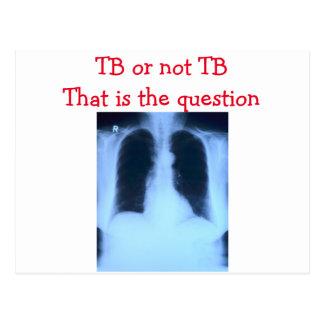 TB or not TB postcard