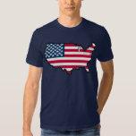 TBA AWARD WINNER American Map Flag T Shirts
