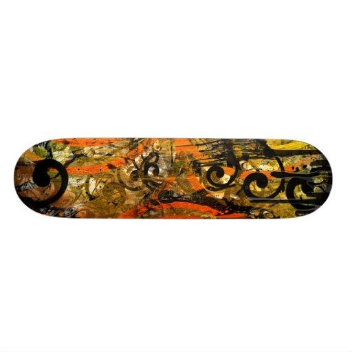 TBA Award Winner Spilt Paint - Swirled Skate Board Deck