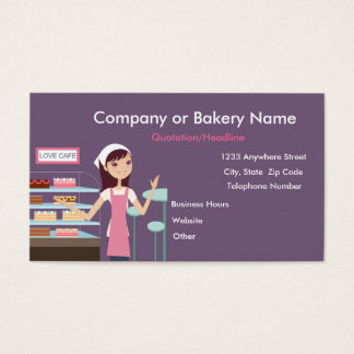 {TBA} Bakery/Pastry Shop #2 Business Card