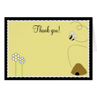 {TBA} Bee Happy Bumble Bee Folded Thank you notes