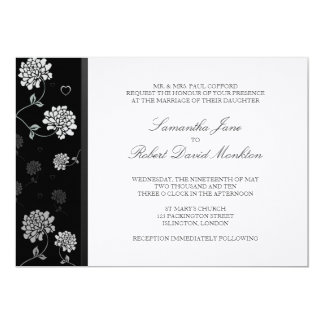 TBA: Black and White Floral Wedding Invitations