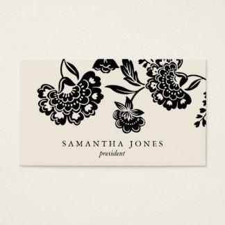 {TBA} damask floral calling card