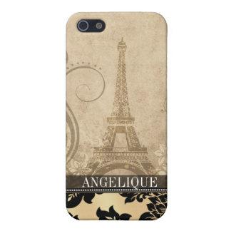::TBA:: Fleur de Paris Eiffel Tower | sand iPhone 5 Case