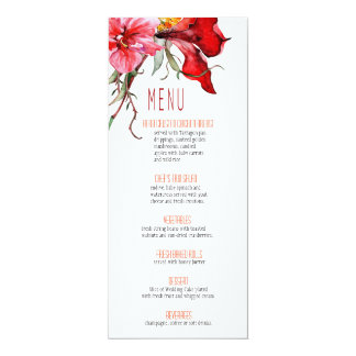 ::TBA:: Flora Botanica Flowers Wedding Menu Card