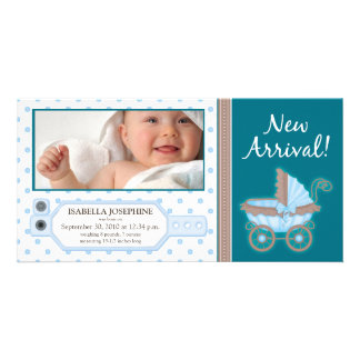 {TBA} Hospital ID Tag Baby Birth Announcement Customized Photo Card