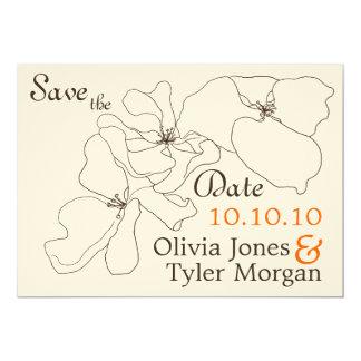 {TBA} Modern Classic Save the Date 13 Cm X 18 Cm Invitation Card