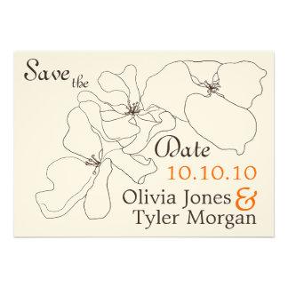 TBA Modern Classic Save the Date Custom Invites