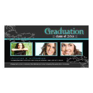 {TBA} Mystic Goth Graduation Announcement (aqua) Custom Photo Card
