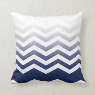 ::TBA:: Ombre Chevron Style! navy Throw Pillow