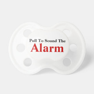 TBA! Pull To Sound Alarm Funny Baby Text Design Dummy