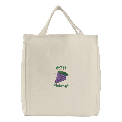 TBA* Sweet Pickings Purple Grapes Grocery Bags