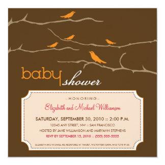 {TBA} Tweet! Tweet! Baby Shower Invite (orange)