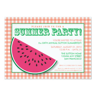 {TBA} Watermelon Summer Cookout/BBQ Invitation