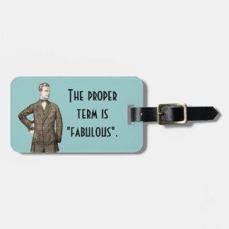 TBA Winner Fabulous Luggage Tag