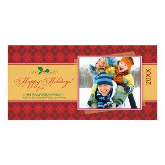 {TBA} Winter Argyle Happy Holidays Photocard (red) Photo Cards