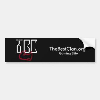 TBC logo sticker Bumper Sticker