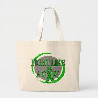 TBI Fight Like A Girl Circular Canvas Bags