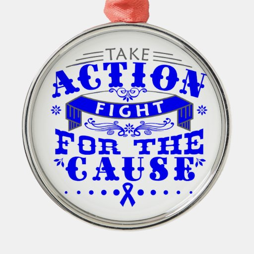 TBI Take Action Fight For The Cause Christmas Ornament