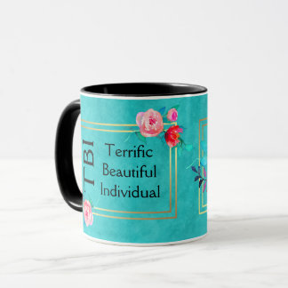 TBI Terrific Beautiful Individual Pink Floral Mug