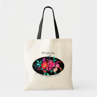 TBI Terrific Beautiful Individual Pink Floral Tote Bag