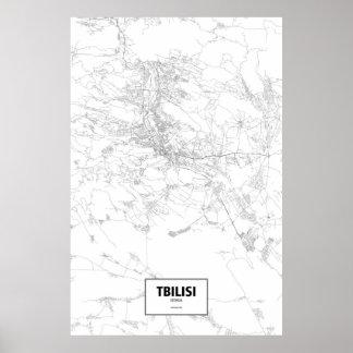 Tbilisi, Georgia (black on white) Poster