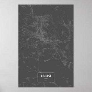 Tbilisi, Georgia (white on black) Poster