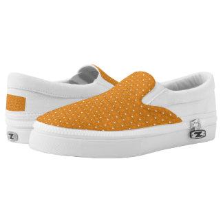 TC2 Orange -Women or Men Slip On Canvas Shoes Printed Shoes