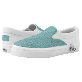 TC2 Turquois -Women or Men Slip On Printed Shoes