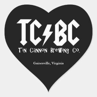 TC/BC Lightning Bolt Heart Sticker