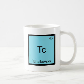 Tc - Tchaikovsky Funny Chemistry Element Symbol Coffee Mug