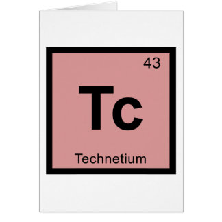 Tc - Technetium Chemistry Periodic Table Symbol Greeting Card