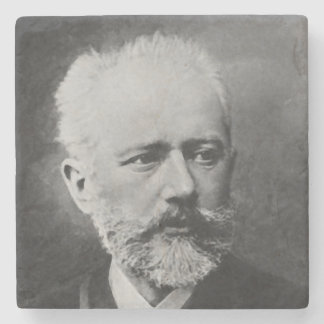 Tchaikovsky Photo Portrait Stone Coaster