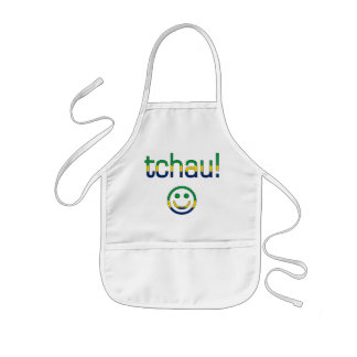 Tchau! Brazil Flag Colors Kids Apron