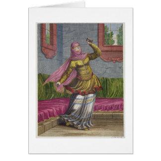 Tchinguis, or Turkish dancer, 18th century (engrav Card