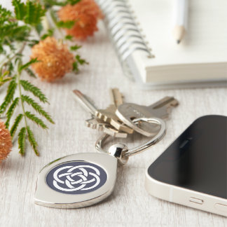 TCSPP Swirl Metal Keychain Silver-Colored Swirl Key Ring