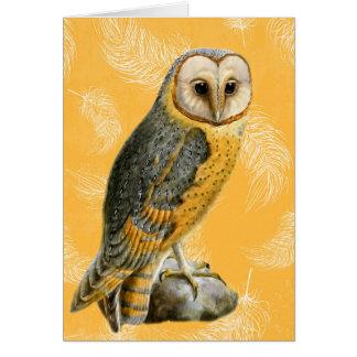 TCWC - Barn Owl Vintage Blank Card