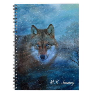 TCWC - Blue Wolf Christmas Notebooks