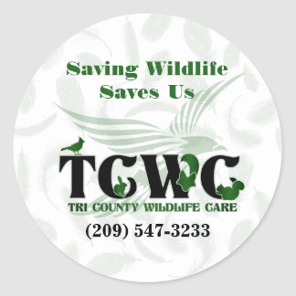 TCWC - Logo Saving Wildlife Saves Us Stickers