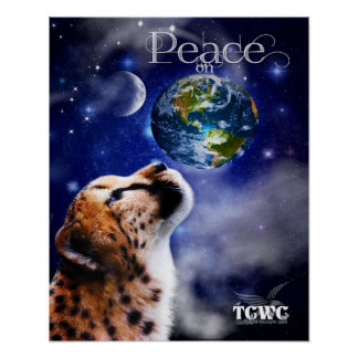 TCWC - Peace on Earth Cheetah Poster