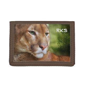 TCWC - Puma Mountain Lion Art Tri-fold Wallet