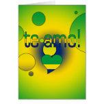 Te Amo! Brazil Flag Colours Pop Art Greeting Card