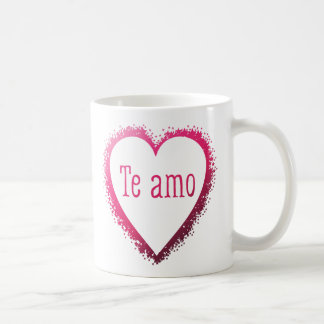 Te amo, I love you in Spanish in pink Coffee Mug