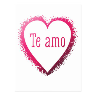 Te amo, I love you in Spanish in pink Postcard