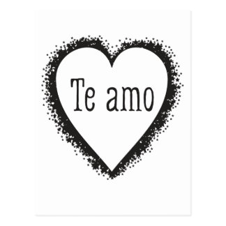 Te amo, I love you in Spanish Postcard