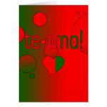 Te Amo! Portugal Flag Colours Pop Art Cards