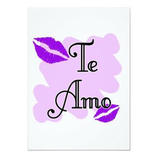 Te Amo - Spanish - I Love You Invite