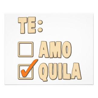 Te Amo Tequila Spanish Choice 11.5 Cm X 14 Cm Flyer